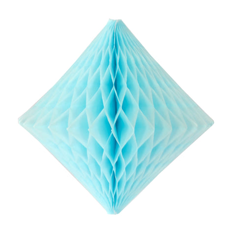 Light Blue Honeycomb Diamond