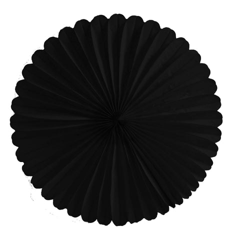 Black Tissue Fan - Large