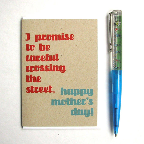 Crossing the Street Mother's Day Card