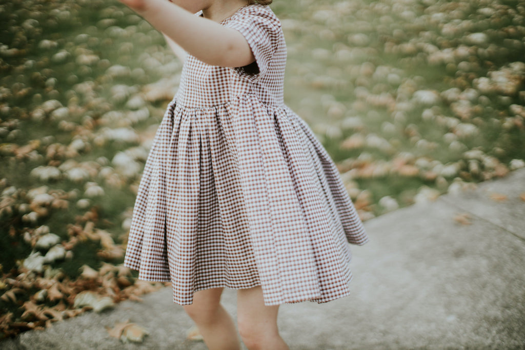 The Penny Dress in Nutmeg Gingham - Ovette