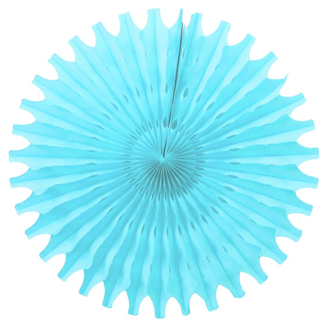 Light Blue Tissue Fan - Small