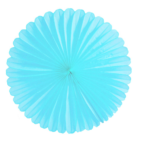 Light Blue Tissue Fan - Large