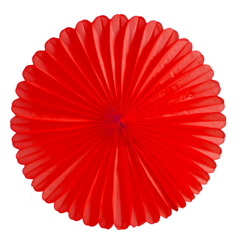 Red Tissue Fan - Large