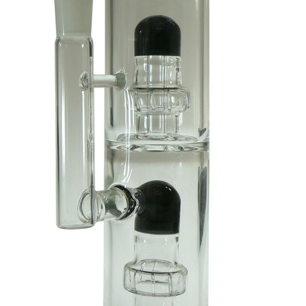 "14"" Bent Neck Coloured Double Perc Tube"