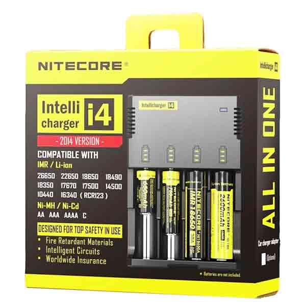 Nitecore Intellicharger i4 Battery Charger, 4 Bays
