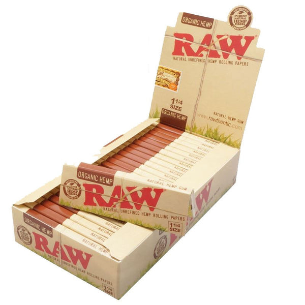 RAW Organic Hemp Rolling Papers, 1.25 Wide