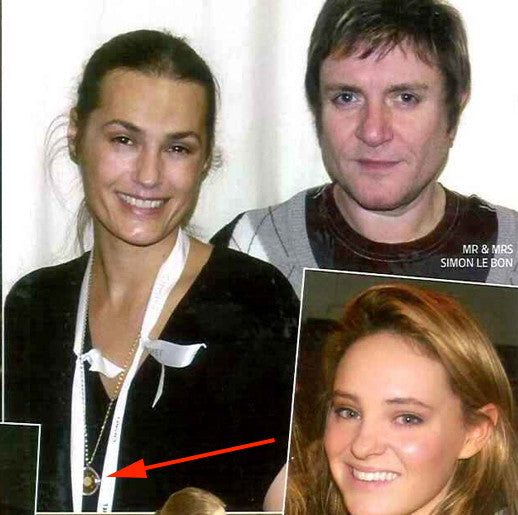 Spotted!  Tatler Magazine Mrs. Simon Le Bon wearing Q-Link