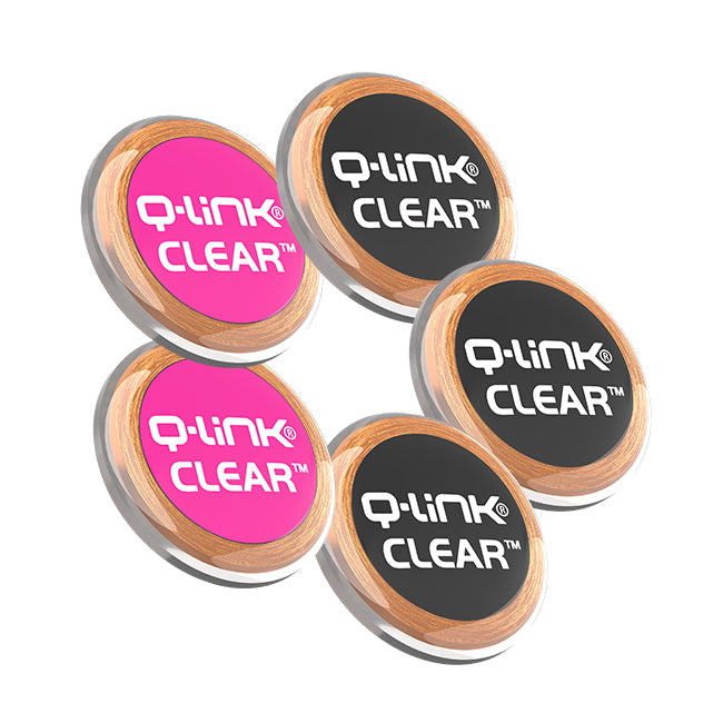 Q-Link CLEAR 5 Pack Bundle (3 Black + 2 Pink)