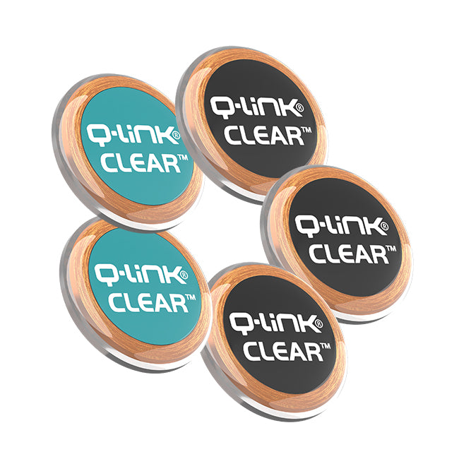 Q-Link CLEAR 5 Pack Bundle (3 Black + 2 Teal)