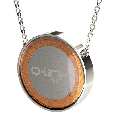 Q-Link Brilliant SRT-3 Pendant (Rhodium Finish) - New!