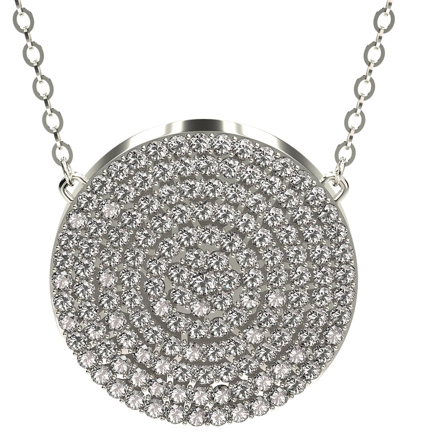 Q-Link Brilliant SRT-3 Pendant (Rhodium Finish)