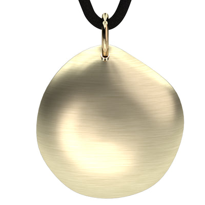 Q-Link 14K Gold Pebble SRT-3 Pendant (Brushed Finish)