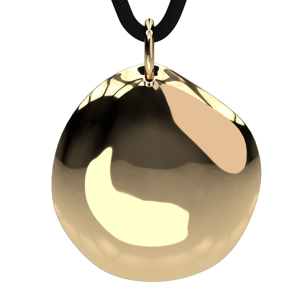 Q-Link 14K Gold Pebble SRT-3 Pendant (Polished Finish)