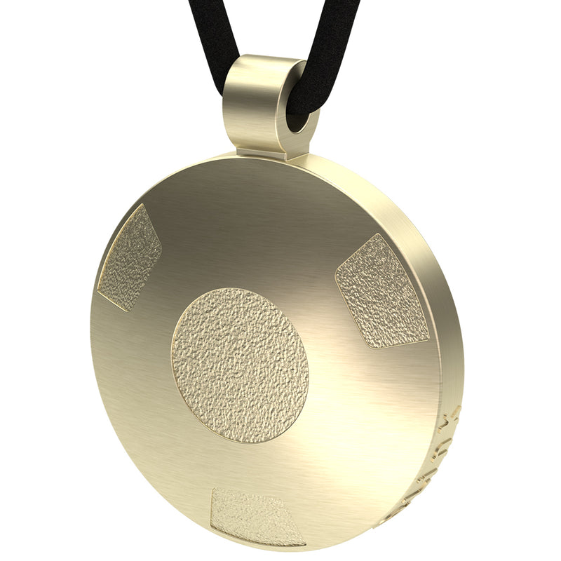 Q-Link 14K Gold Retro SRT-3 Pendant (Brushed Finish)