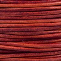 Q-Link Leather Cord (Natural Red)