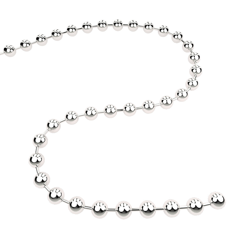 Q-Link Brand Sterling Silver Chain (Bead)