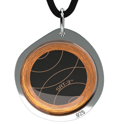Q-Link .925 Silver Pebble SRT-3 Pendant (Brushed Finish)