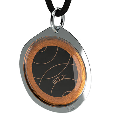 Q-Link .925 Silver Pebble SRT-3 Pendant (Polished Finish)