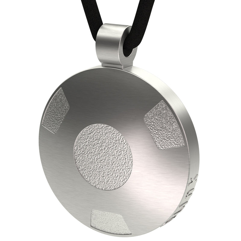 Q-Link Silver Retro SRT-3 Pendant (Brushed Finish)