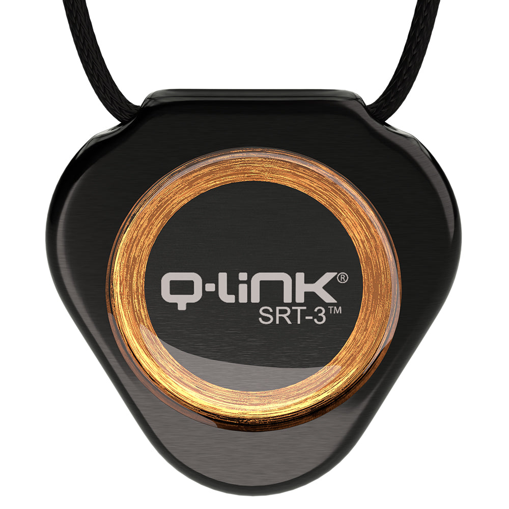 Q-Link Stainless Steel SRT-3 Pendant (Cosmos Black)