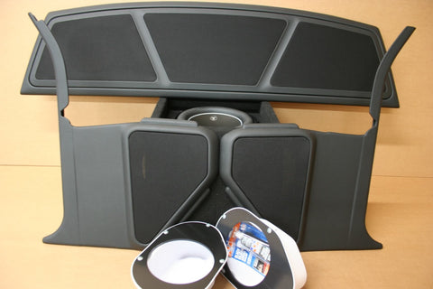 67-69 Camaro/Firebird kick panel, tray, sub enclosure combo
