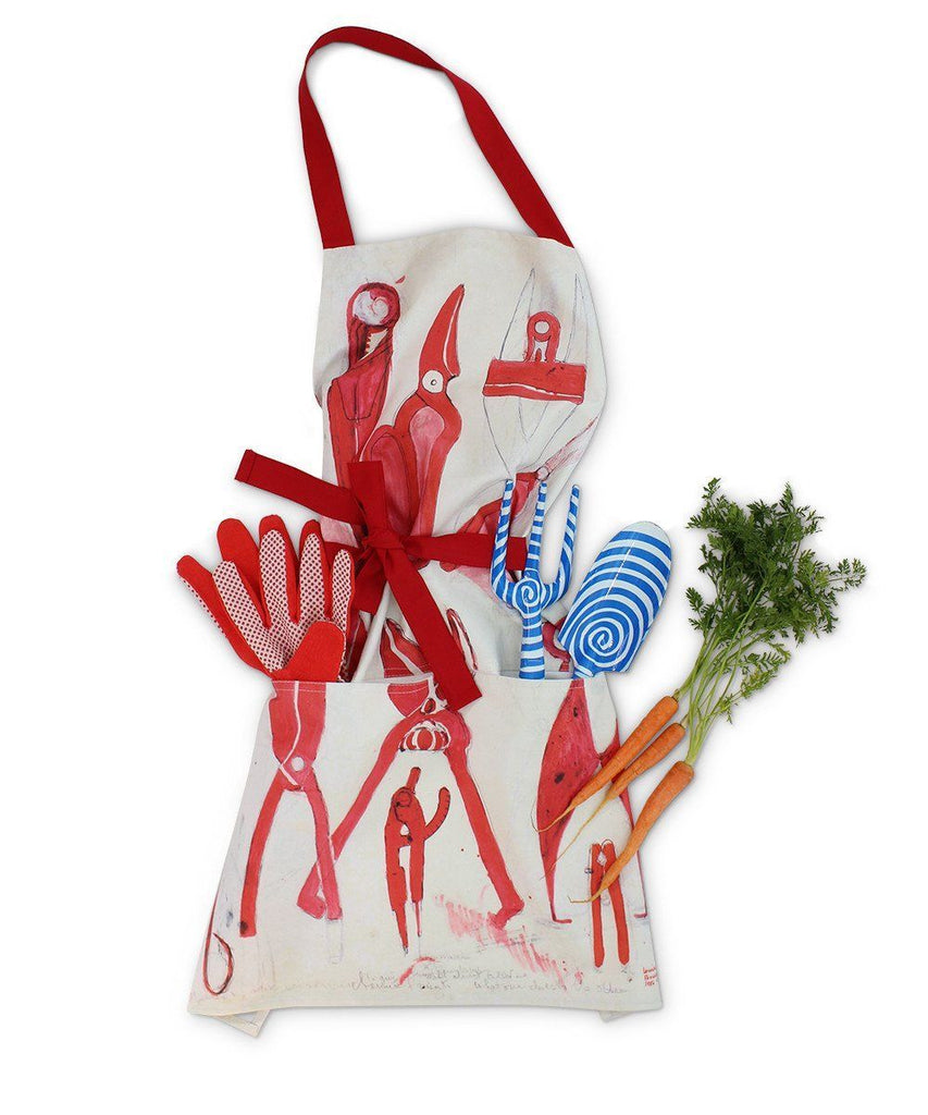 Louise Bourgeois Apron and Garden Tool Set