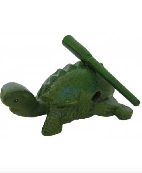 Hand Carved Turtle Instrument