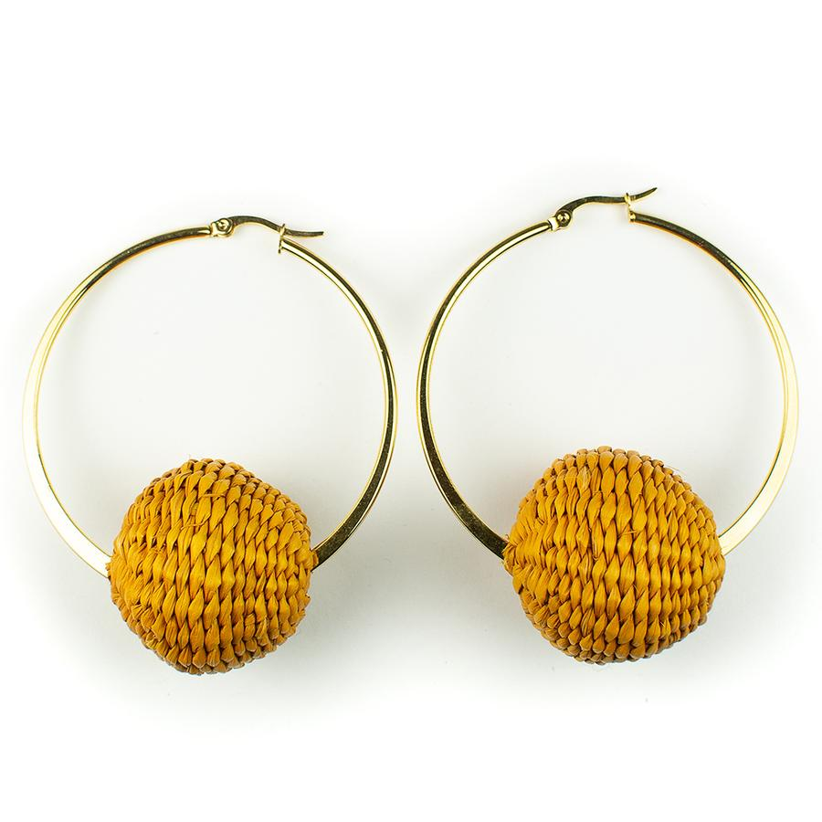 Summery Hoop Earrings