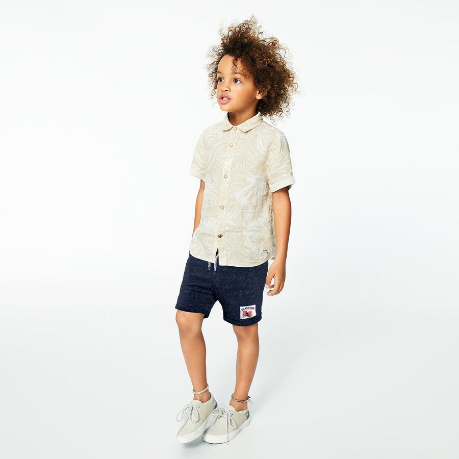 ZPY-boys navy point short with relief