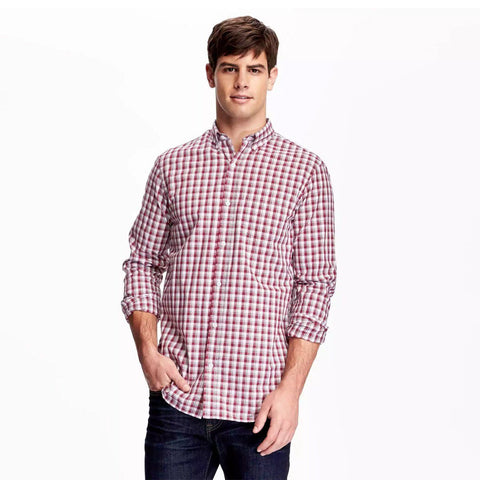 OLD NAVY-classic plaid berry nice 'regular fit' shirt