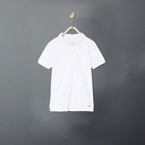 PATCH-boys joseph solid white polo