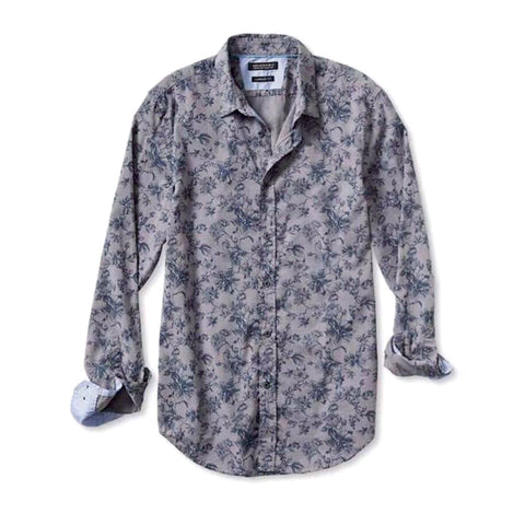 BANANA REPUBLIC-grey 'regular fit' bold floral shirt