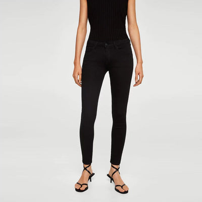 MANGO-black kim skinny push-up jeans