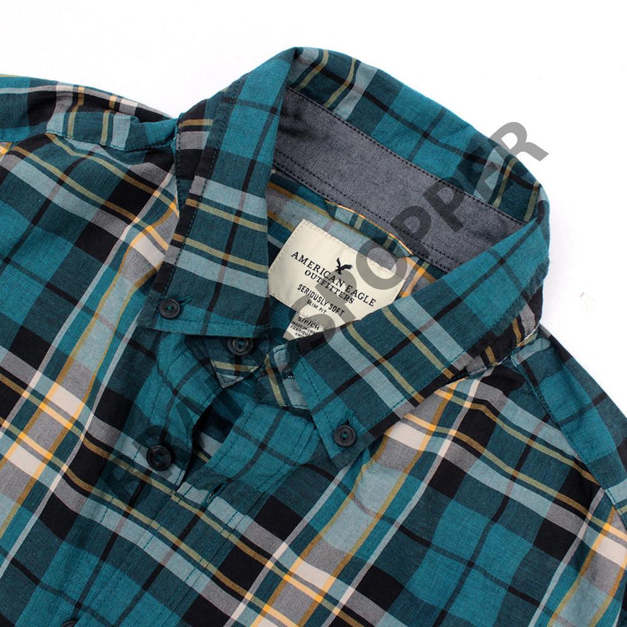 AMERICAN EAGLE-exclusive long sleeve button down shirt