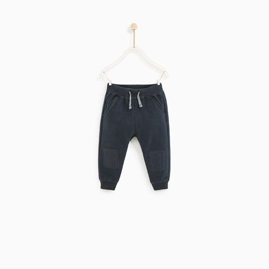 ZARA-kids dark grey jogger trouser with knee patches (501)