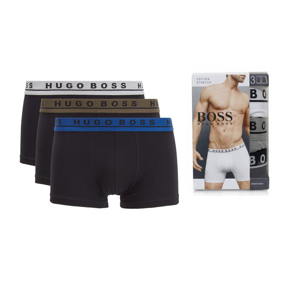 Pack of 3 cotton stretch boxer shorts (1677)
