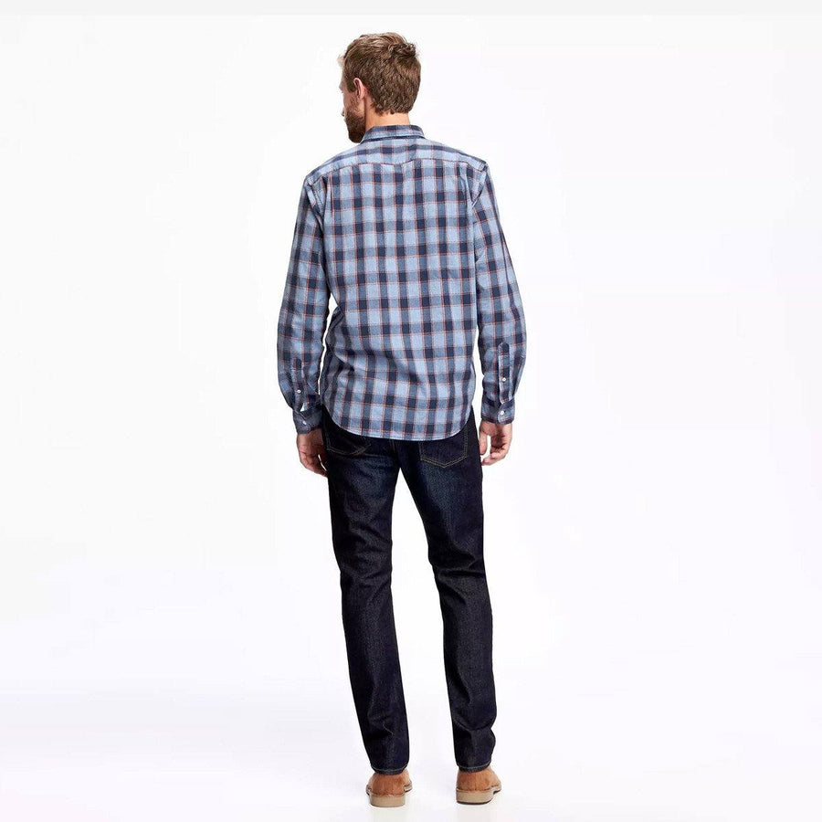 Classic plaid ink blue 'regular fit' shirt