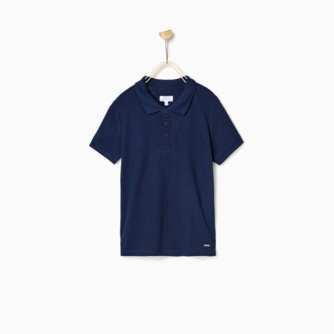 PATCH-boys joseph solid navy polo