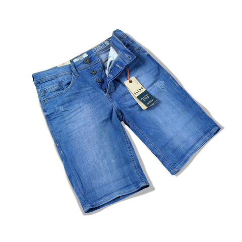 BLEND-bright blue 'slim fit' stretch denim short