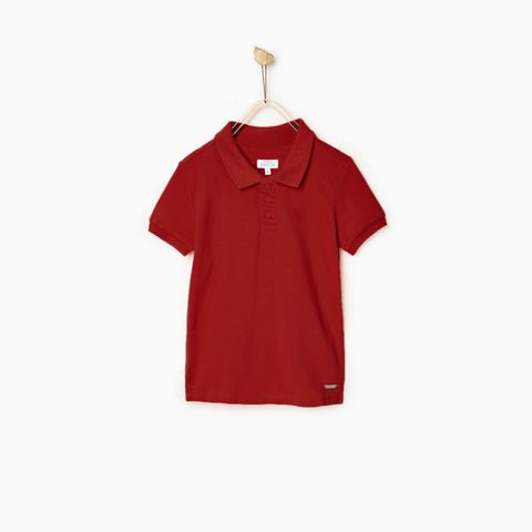 PATCH-boys joseph solid red polo
