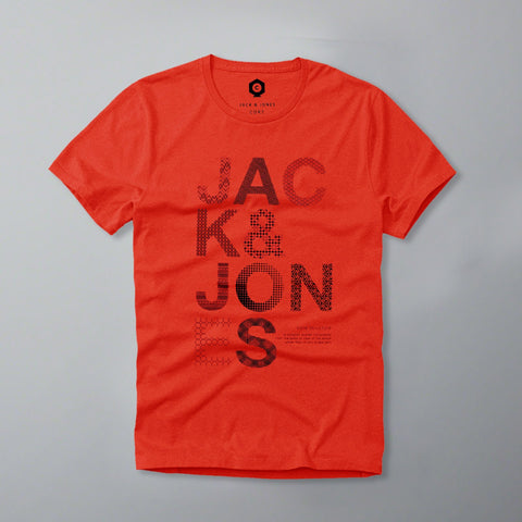 JACK & JONES-slim fit red t-shirt