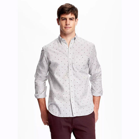 OLD NAVY-classic plaid meadow mauve 'regular fit' shirt
