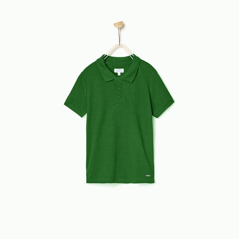 PATCH-boys joseph solid green polo