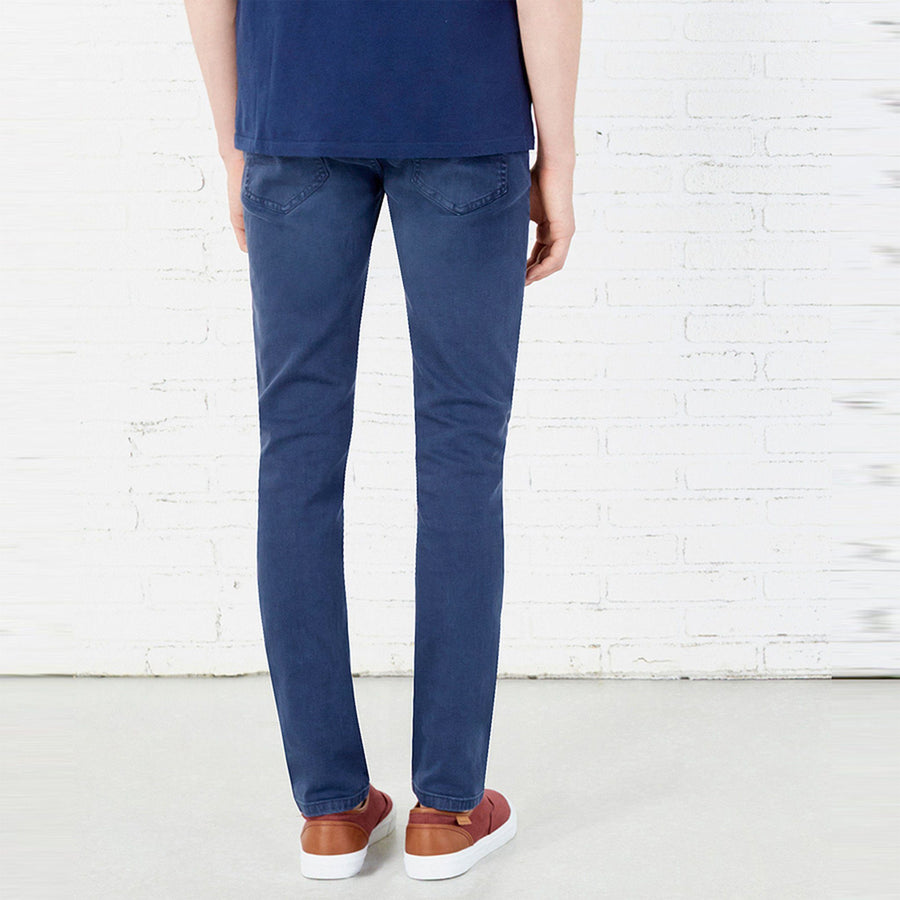 SPRING FIELD-blue 'skinny fit' low rise cotton chino (SP-010)
