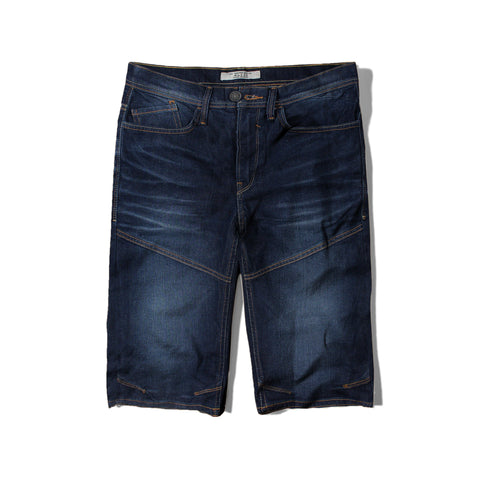 BLEND-dark blue 'regular fit' comfort stretch denim short