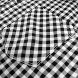 JACK & JONES-exclusive slim fit soft black gingham check shirt