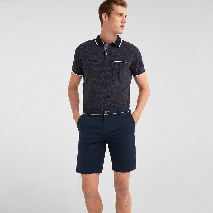 SF-blue live in waistband stretch bermuda short (958)