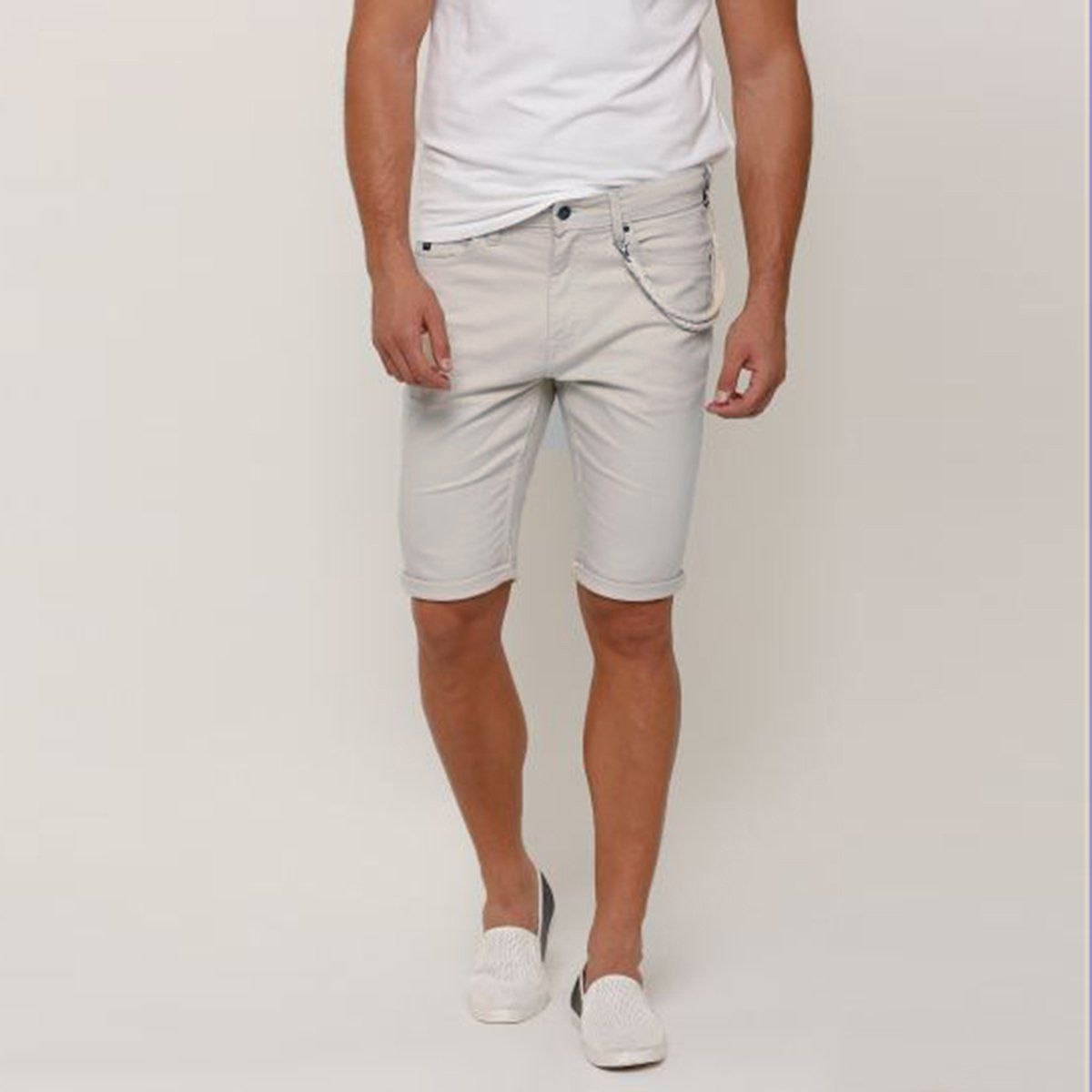 SPL-pocket detail cotton shorts with button closure