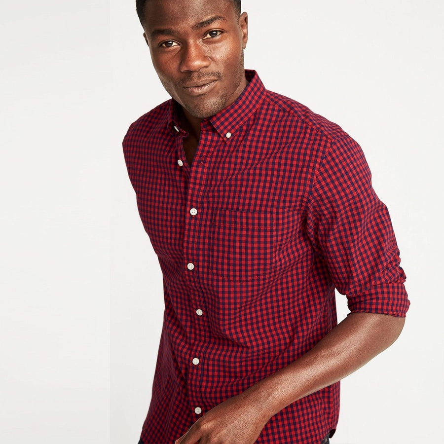 Robble red 'regular fit' oxford shirt