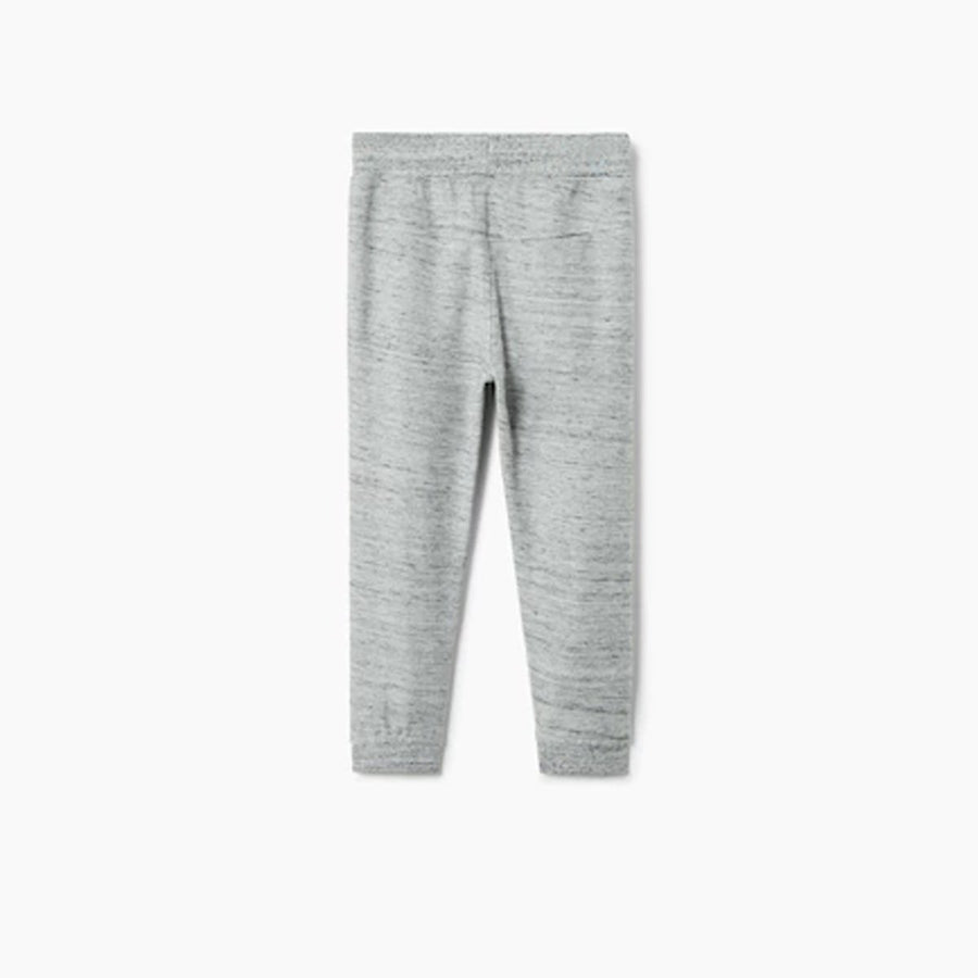 MANGO-boys heather grey textured jogging trouser (431)